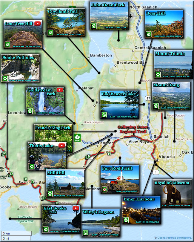 victoria hiking trails map