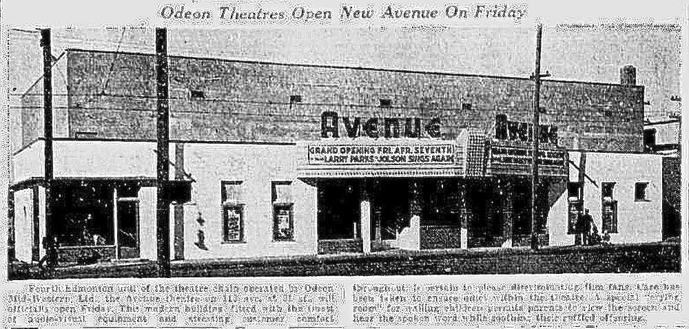 Avenue Theatre in Edmonton
