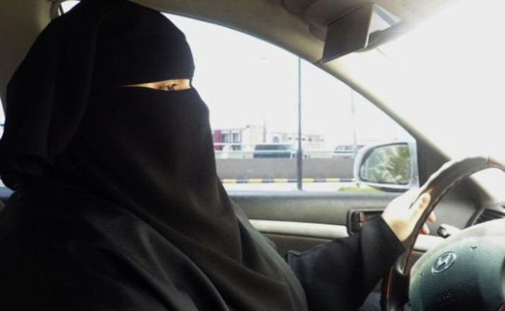 Driving Car with Hijab