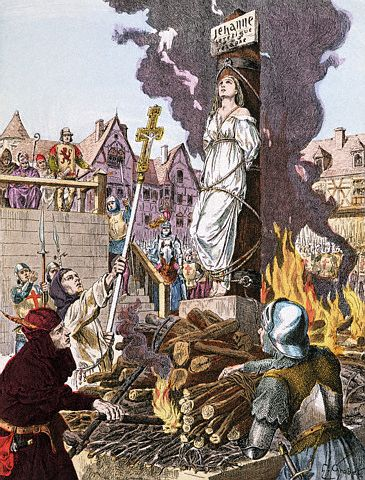 Illustration of Joan of Arc Being Burned at the Stake