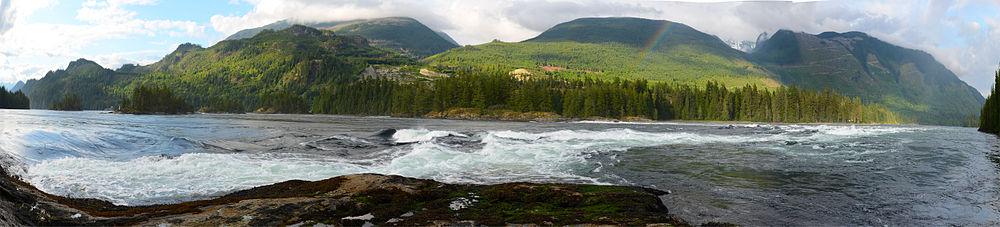 The Skoocumchuk Narrows, and idyllic section of beautiful British Columbia