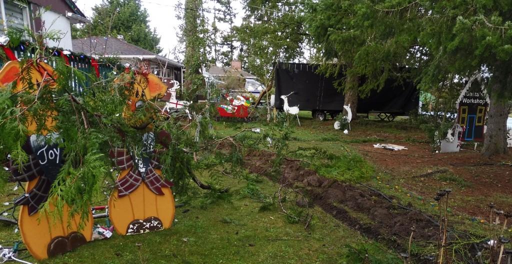 Santa Crash on Leney Place