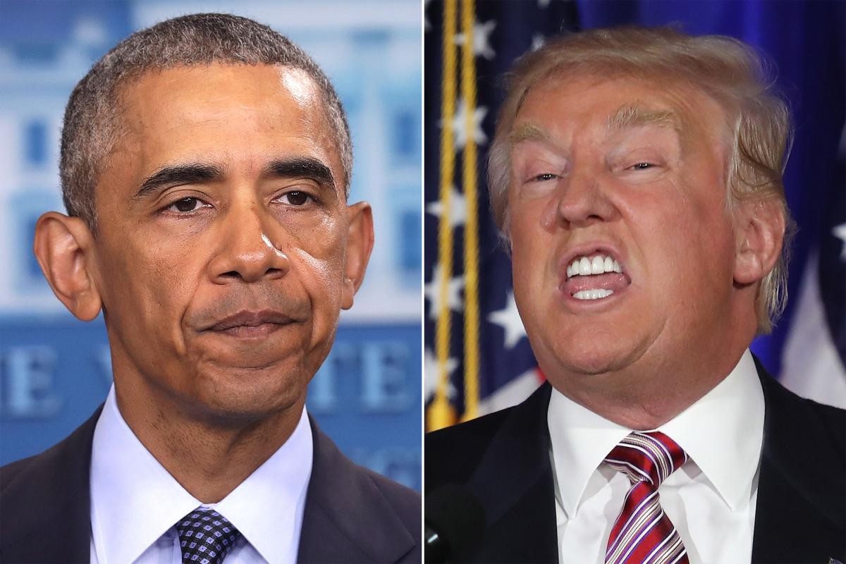 Obama and Trump