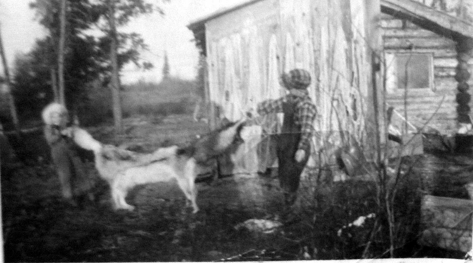 Marie Lake Harold and Louise with Wolf 1
