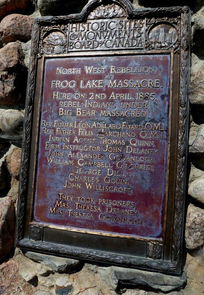 Memorial at Frog Lake