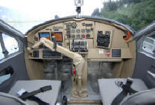 Cockpit view of Otter on floats