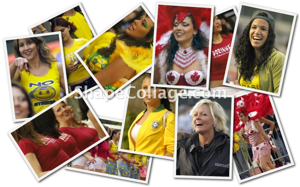 Brazil Girls Collage