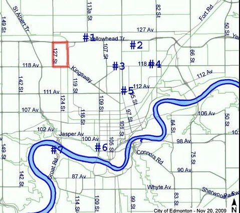 Edmonton Street Locations