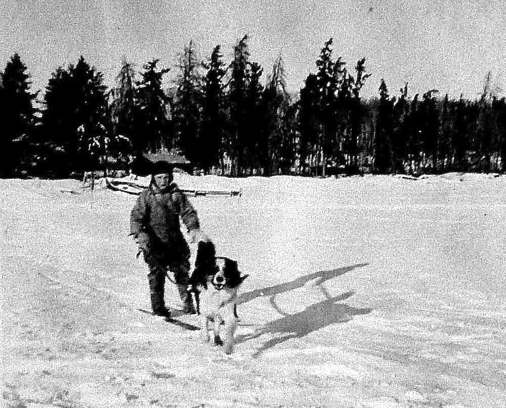 Harold McNeill and his dog Shep