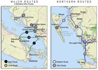BC FERRIES major_routes