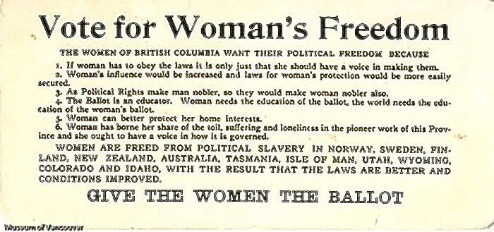 Womans Suffrage in BC