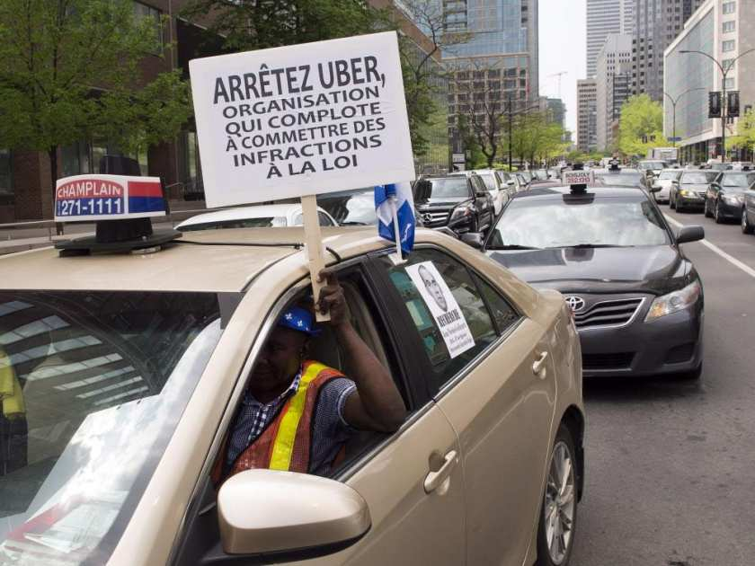 taxi-drivers-hold-a-demonstration-through-the-streets-of-dow