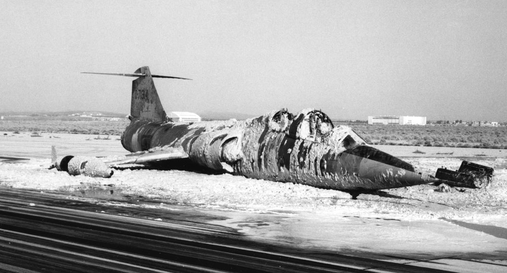 CF-104 Crash on Runway