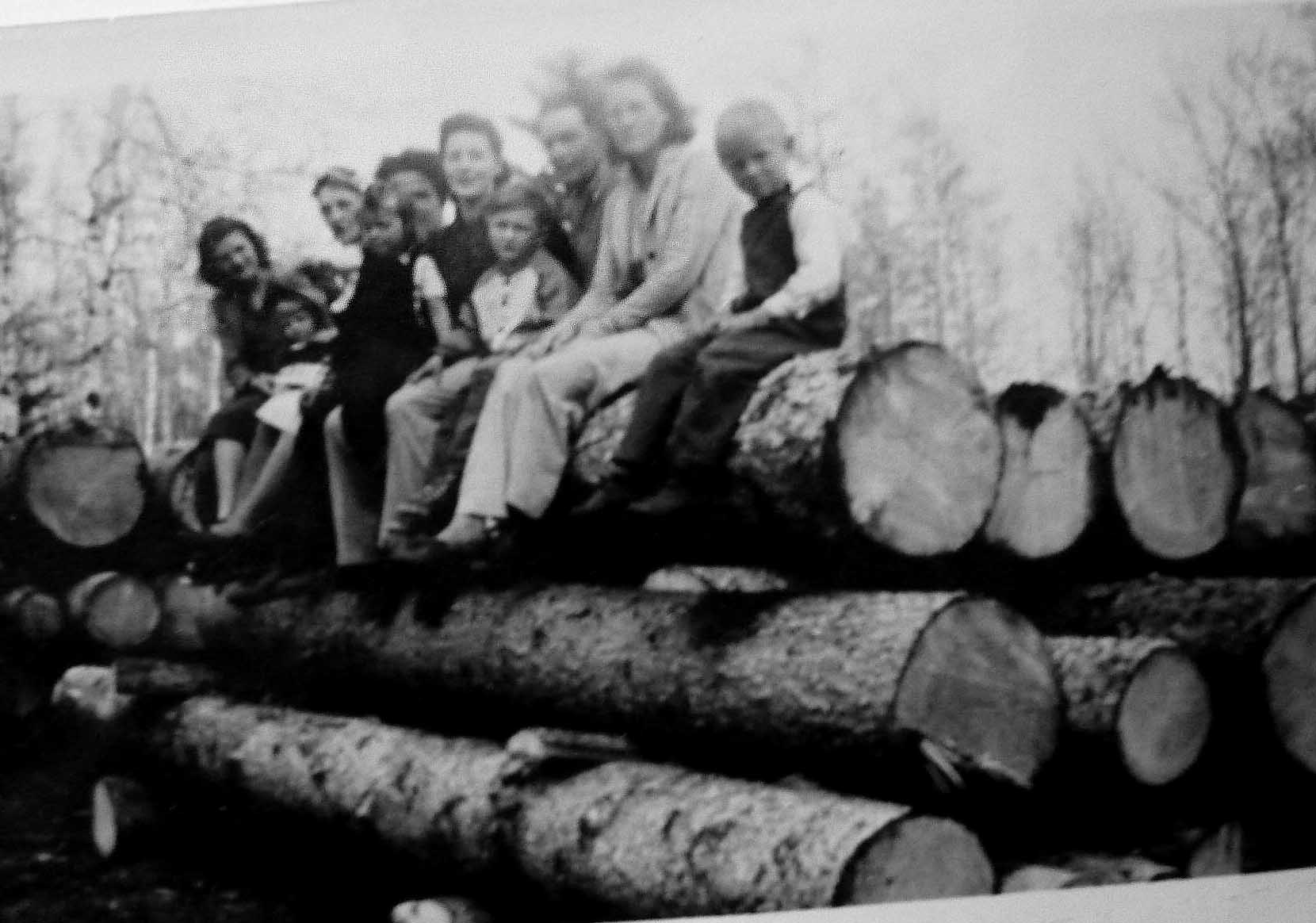 Martineau Camp on Logs