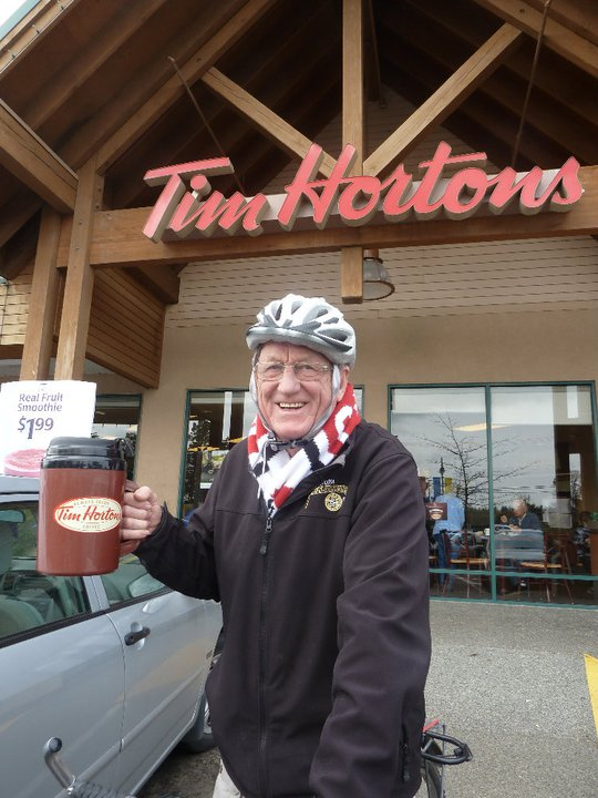 Harold at Tim Horton's